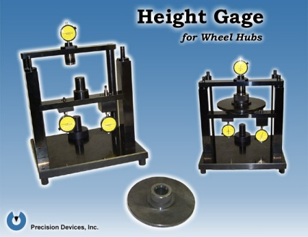 Height Gage for Wheel Hubs